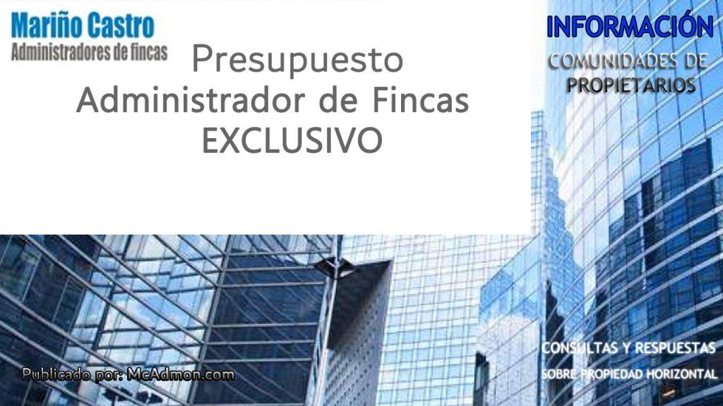 Presupuesto Administrador de fincas EXCLUSIVO para Málaga, Benalmádena, Marbella, Mijas Costa Fuengirola